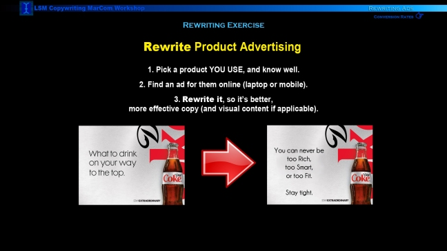 MarketingCOPYWRITINGexerciseAdRevision